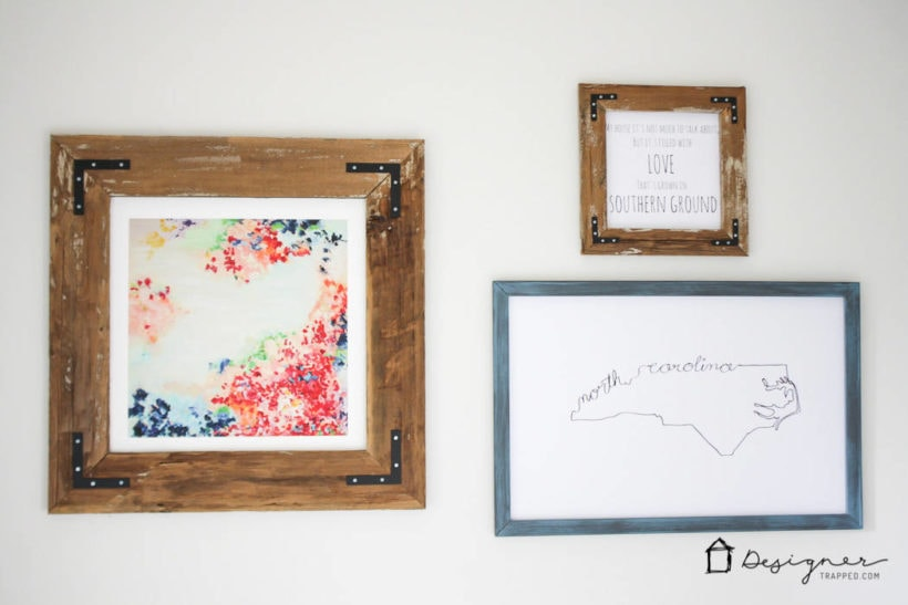 How to Make a DIY Picture Frame from Upcyled Wood! | Designertrapped.com