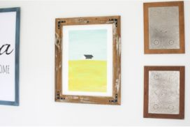 How to Make a DIY Picture Frame from Upcyled Wood