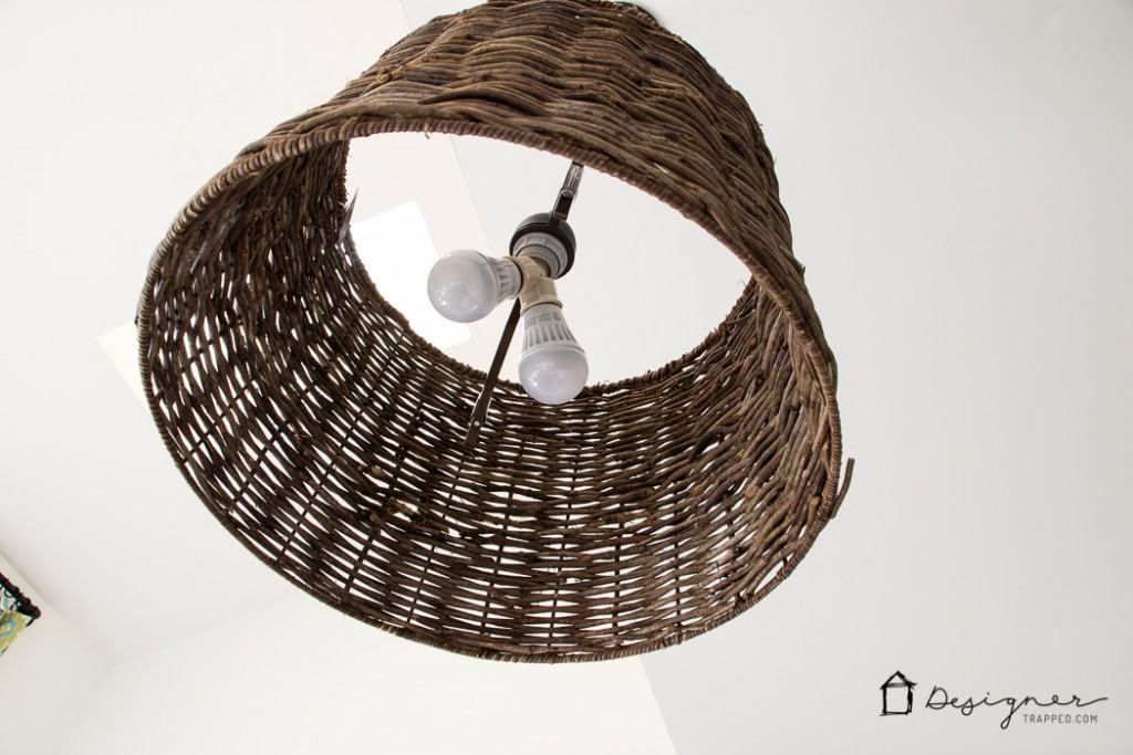 OMG! This is brilliant! This blogger made this DIY light in about 15 minutes for around $30. I am so going to make one!