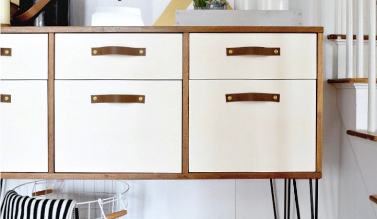 DIY Leather Drawer Pulls | Designer Trapped in a Lawyer\'s Body