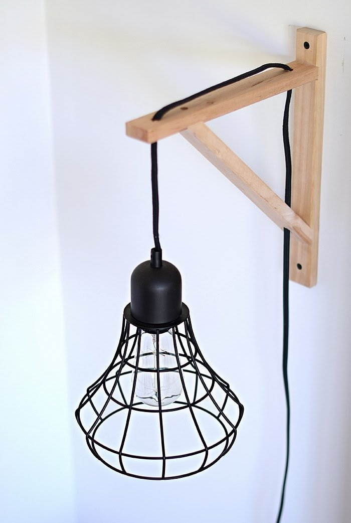 diy cage light sconce 5