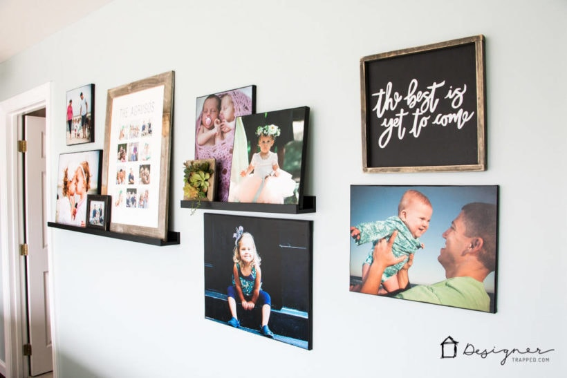 organized curated family pictures