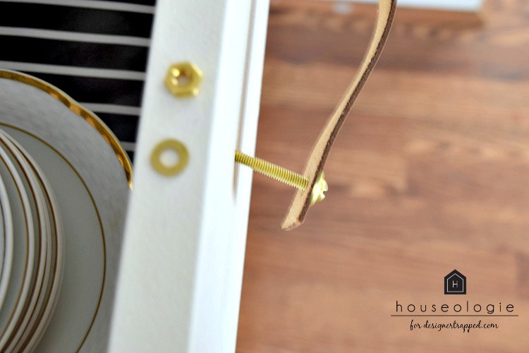 DIY Leather Drawer Pulls - Houseologie for Designer Trapped