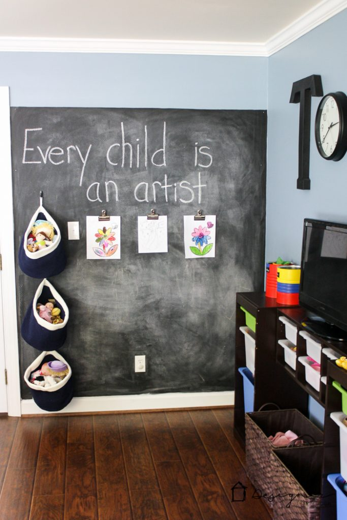 A kids' playroom doesn't have to be overly cutesy. There are tons of playroom decor options that kids and adults will both love. This room is a great example!
