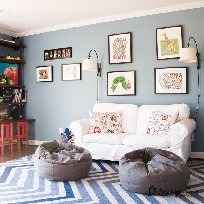Lil Boy Bedroom Ideas Kids Bedroom Sets With Desk Bedroom Interior Lighting Bedroom With Bed In The Middle: Kids' Playroom Reveal