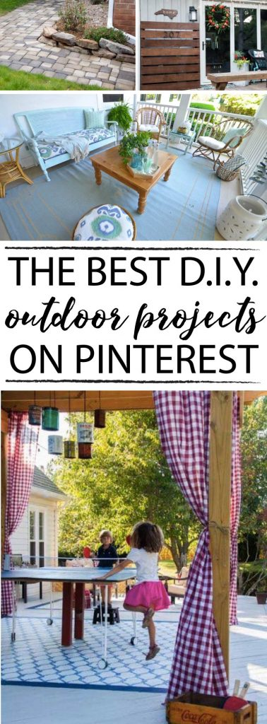 These are hands down some of the best DIY outdoor projects I have seen! I really want to try number 7 at my house.