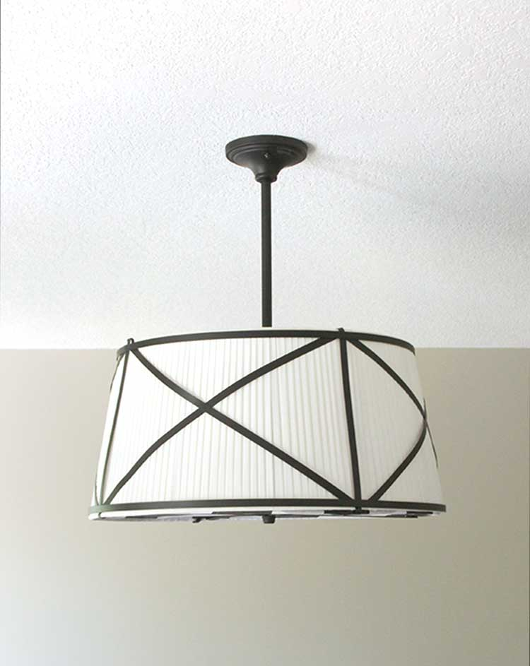 AWESOME DIY drum light makeover! So, so clever. Can't wait to try this.