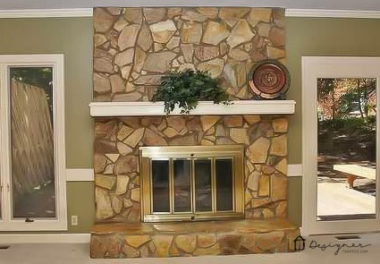 OMG, this fireplace makeover is amazing and was done on such a small budget!
