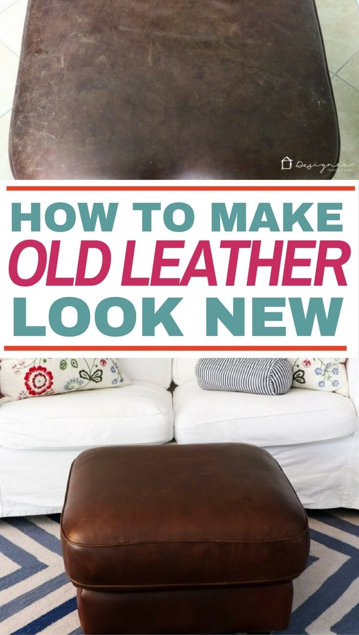 Learn how to restore leather furniture with this easy tutorial. #leatherrestore #restoreleather