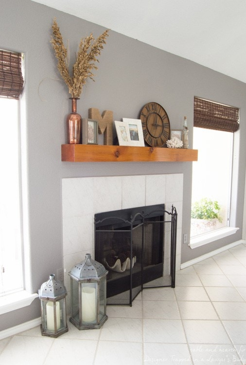 Hate your current mantel? With just a few pieces of molding