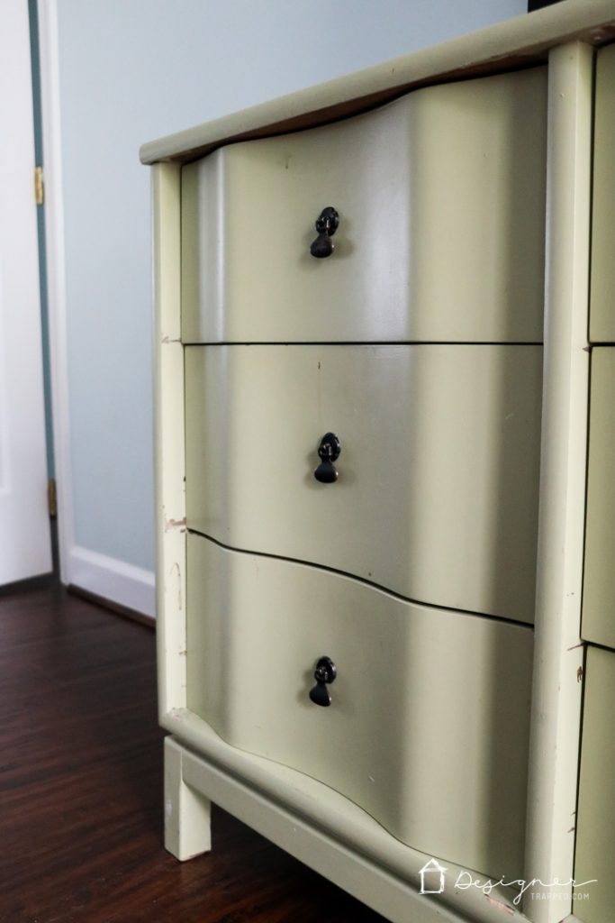 If you have ever wondered how to paint wood furniture in a way that will actually LAST a long time, this is the post for you! This full tutorial teaches you how to paint wood furniture--it's all about the prep work and paint you use. #spon