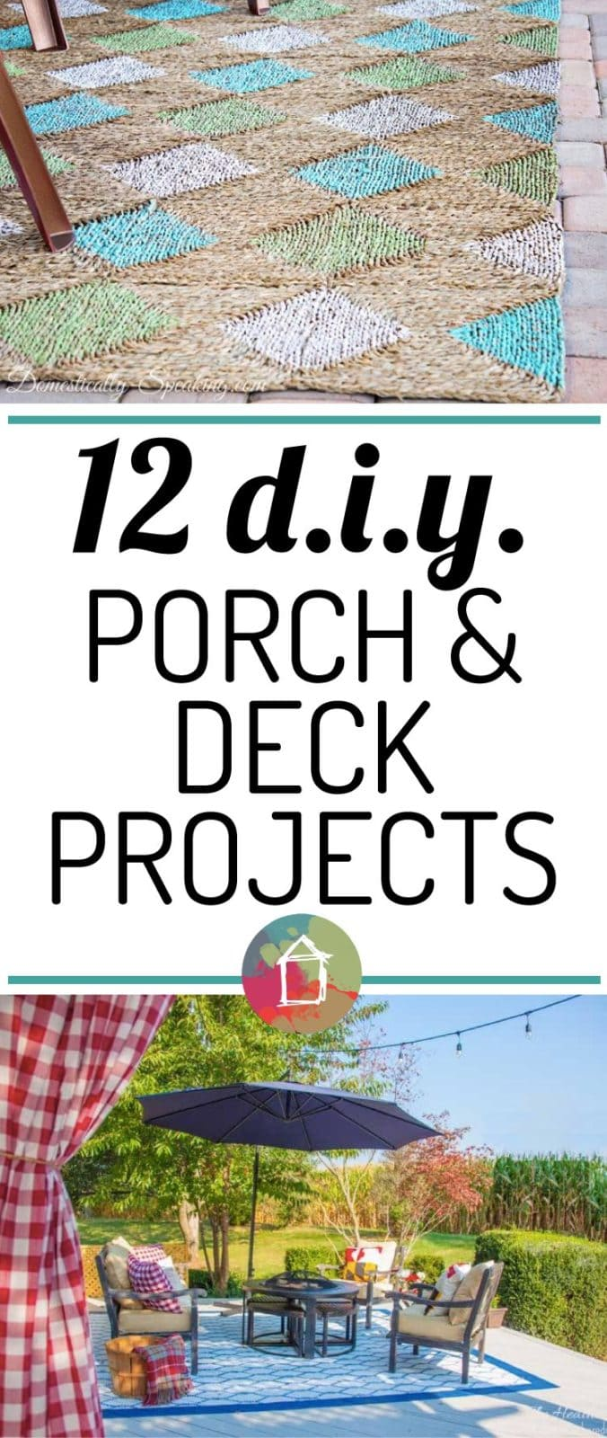 Such a great list of DIY porch and deck projects! I can't wait to try the DIY outdoor curtains and painted rugs!