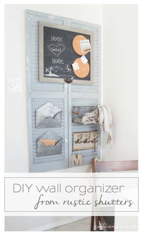 DIY-wall-organizer-from-rustic-shutters-15