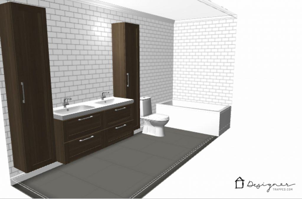OMG  love the plans for this budget friendly bathroom remodel  You don  39. Budget Friendly Bathroom Remodel Plans   Designer Trapped