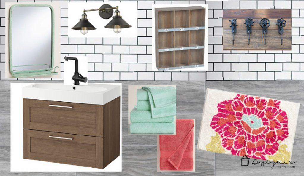 BudgetFriendly Bathroom Remodel Plans Designertrappedcom - Bathroom remodel materials list