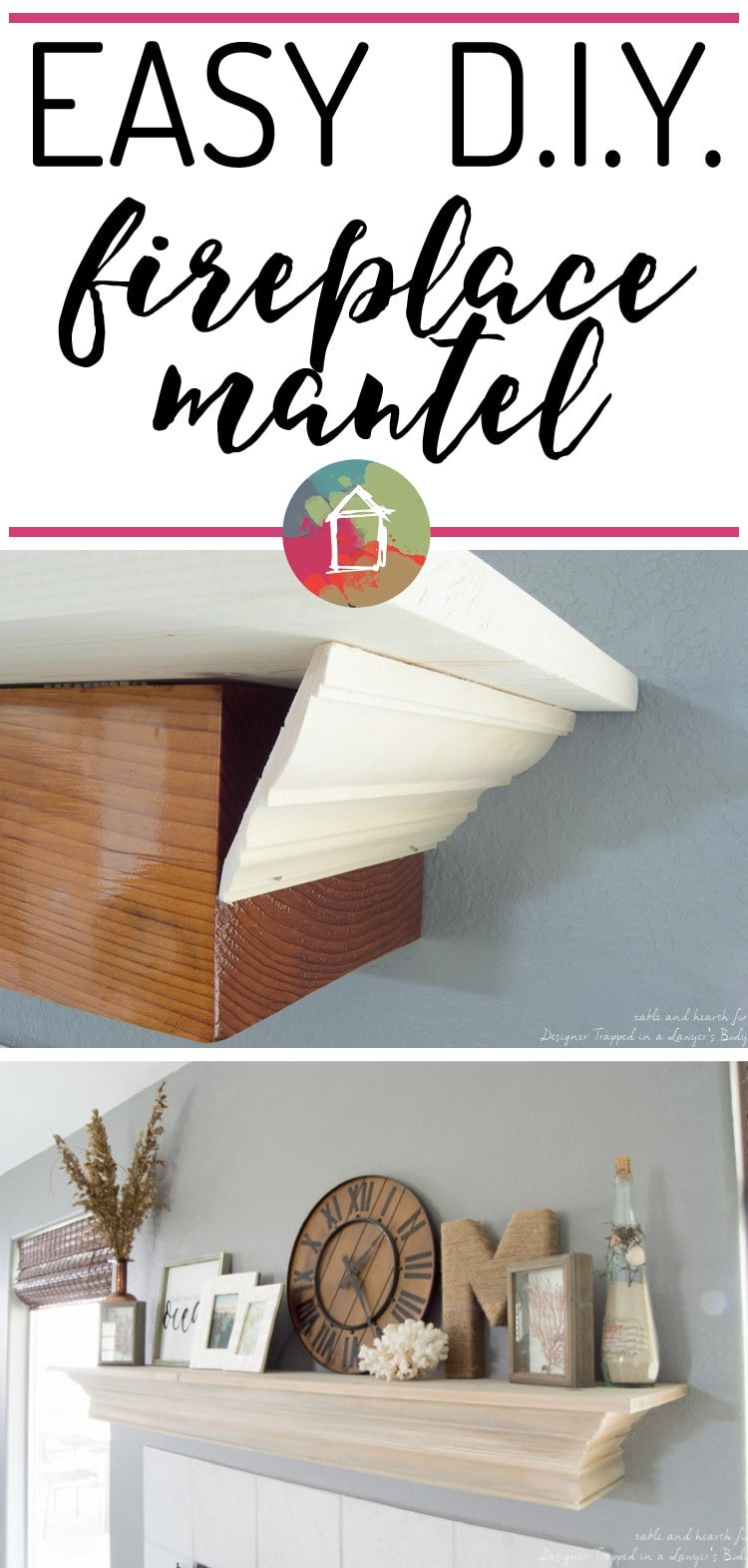 diy fireplace mantel with a driftwood finish designer trapped in
