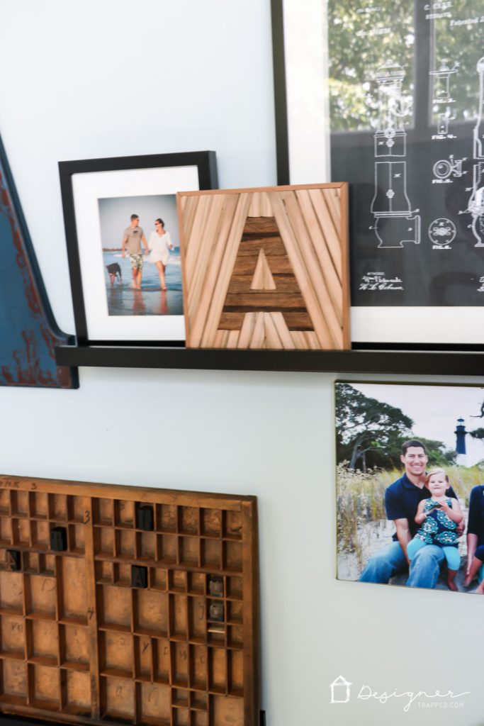 YES! I love letter decor and all things typography and this DIY letter decor projects is one of my absolute favorites. It was made using an old pallet and wood from an old playground set. Upcycling at its best :)