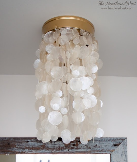 Light fixtures are so expensive. LOVE this list of creative and beautiful DIY light fixtures, especially number 4. Can't wait to try it!