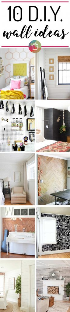 OMG! This is such a great list of DIY wall covering ideas. I love them all, especially numbers 4 & 7!