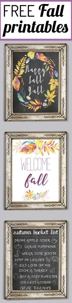 Add a touch of Fall to your home for free and with very little effort with these FREE Fall printables! This fresh color palette is amazing and perfect for Fall decor!