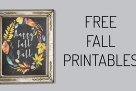 Free Fall Printables With a Fresh Color Palette