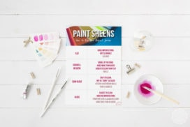 How to Pick the Perfect Paint Sheen (+ a free paint sheen chart)!