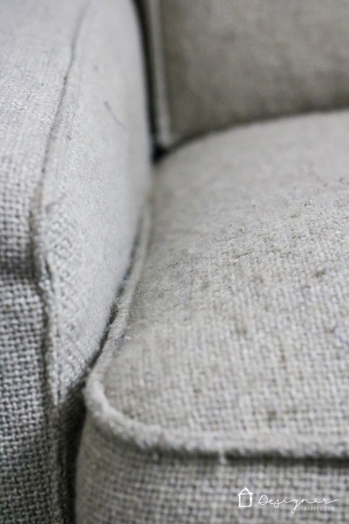 WHOA! I never dreamed it could be so easy to make a new couch look new again. This is amazing, quick and super inexpensive. I can't wait to try it.