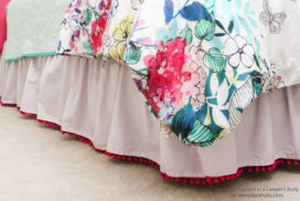 Semi-homemade Bed Skirt Tutorial