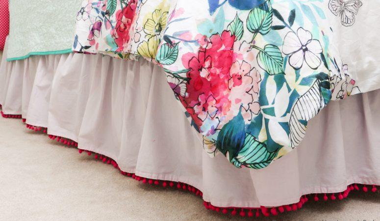 Semi-homemade Bed Skirt Tutorial