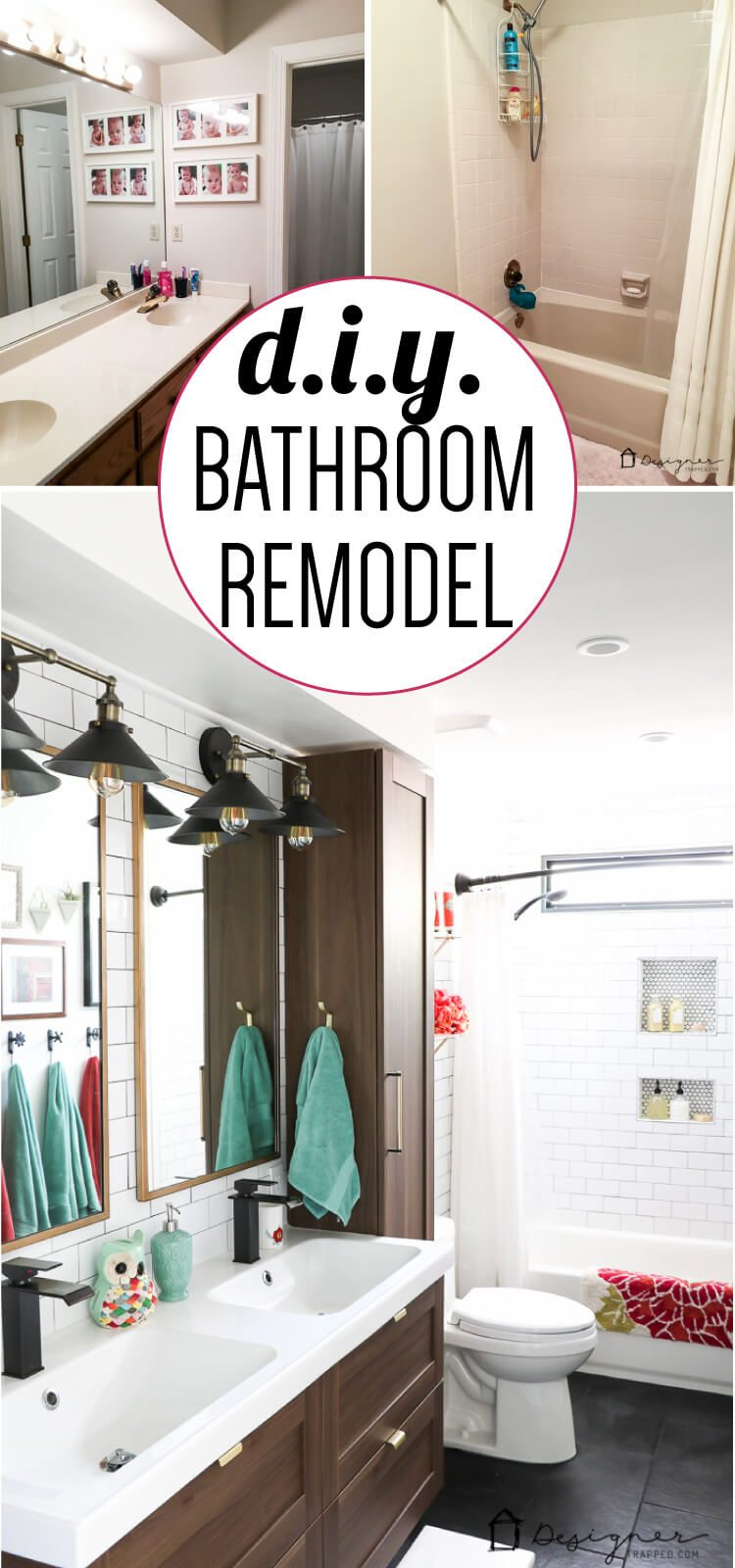 this diy bathroom remodel is by far one of the