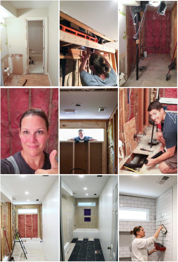 WOW, WOW, WOW! This DIY bathroom remodel is by far one of the best I have seen, and they REALLY did all the work themselves!