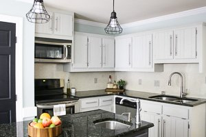 How to Paint Kitchen Cabinets without sanding or priming!