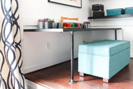 DIY Pipe Desk (a.k.a. the easiest desk EVER)