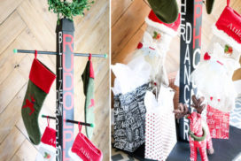 DIY Stocking Holder Stand: No Mantel? No Problem!