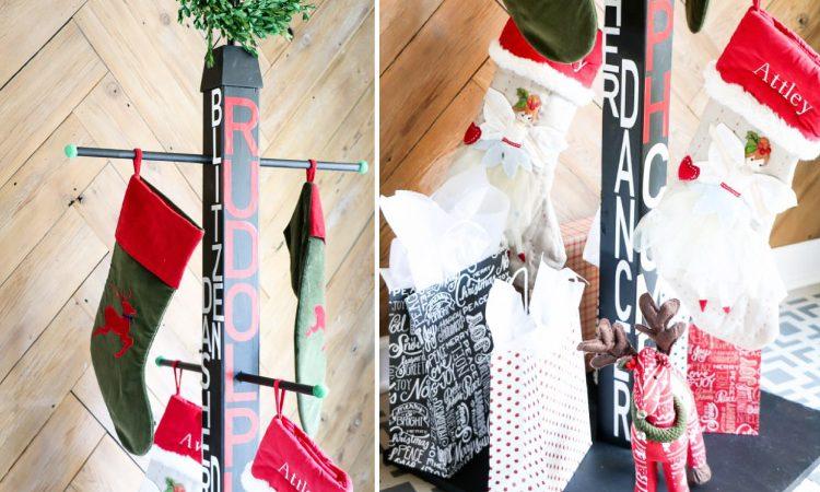 DIY Stocking Holder Stand: No Mantel? No Problem!