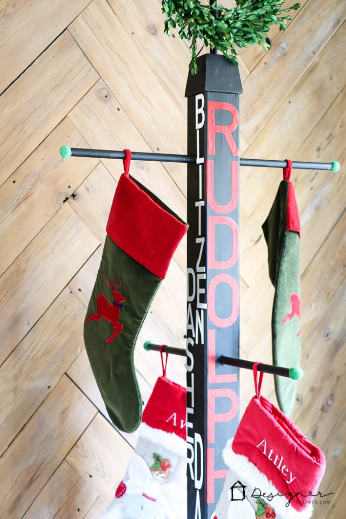 Diy Stocking Holder Stand No Mantel No Problem