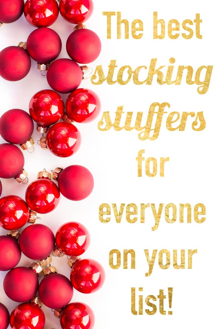 Stocking stuffers are one of the hardest parts of holiday shopping for me! LOVE this list of the best stocking stuffers--there is something for everyone on this list. Stocking stuffers for kids, women and men!