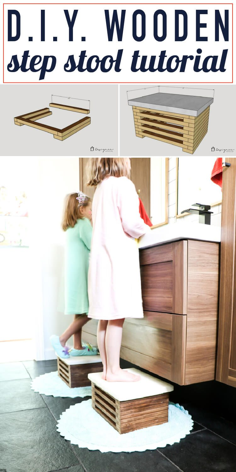 Merveilleux This DIY Wooden Step Stool Is Amazing. It Looks So Modern And I