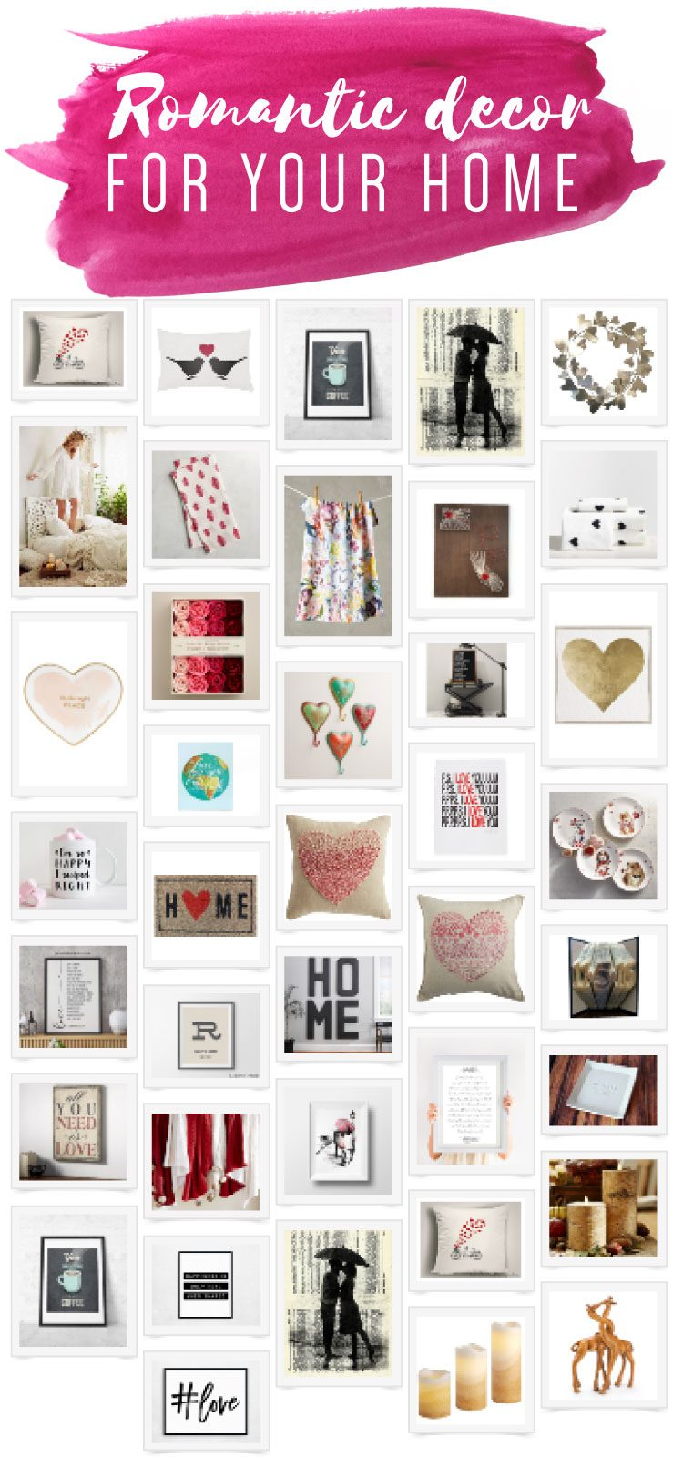 I ADORE these romantic room decor ideas! Would make great gifts and are the perfect way to add some coziness and touches of love to your home. You can add romantic room decor to your home without going overboard. These tasteful romantic room decor ideas are classy and beautiful.