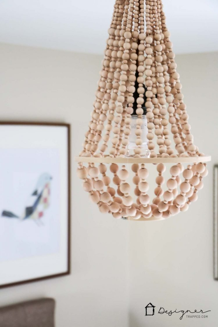 I Love This Diy Chandelier Made From Wood Beads It Looks Like