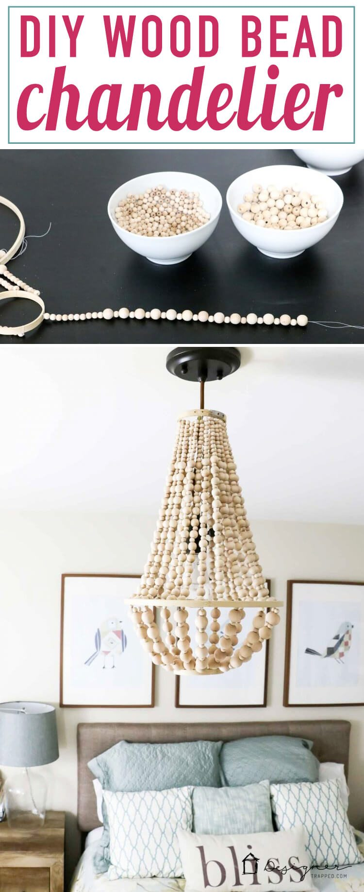 OMG, I Love This DIY Chandelier Made From Wood Beads. It Looks Like It