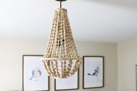 DIY Chandelier From Wood Beads