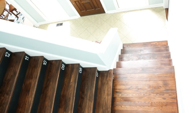 Learn How to Number Your Wood Stairs (the easy way)!