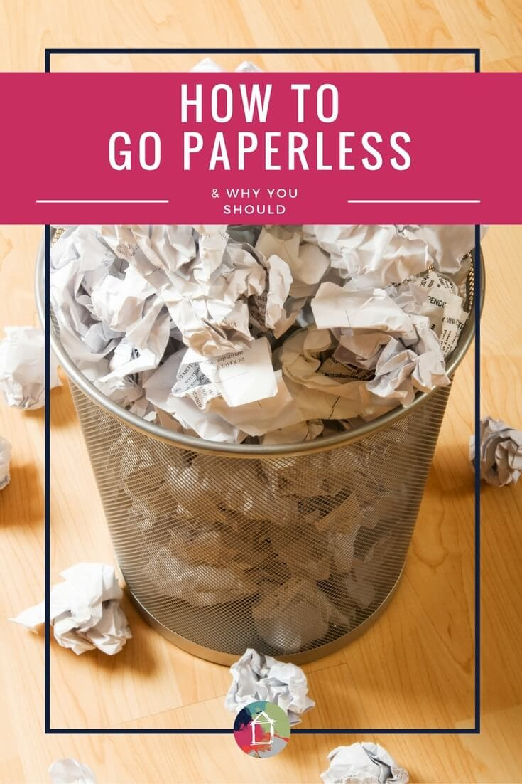 Want to go paperless and save yourself from drowning in papers and documents? This post explains exactly how to go paperless and it doesn't sound hard! I can't wait to do it.