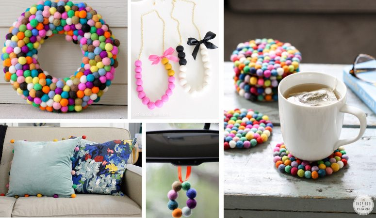 OMG, these are such creative ways to use felt balls. I never would have thought of some of these felt ball projects in a million years, but am excited to try some of them, especially number 4 and 8!