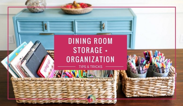 Dining Room Storage and Organization