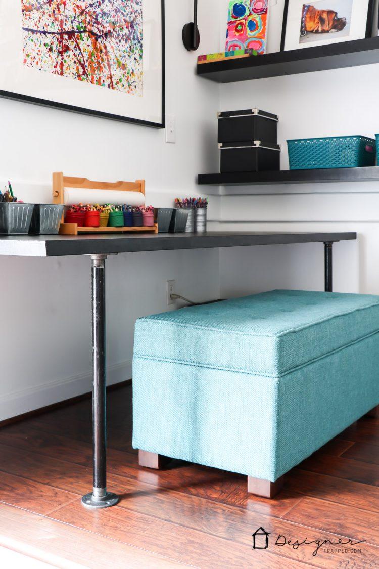 diy pipe desk a k a the easiest desk ever designer trapped