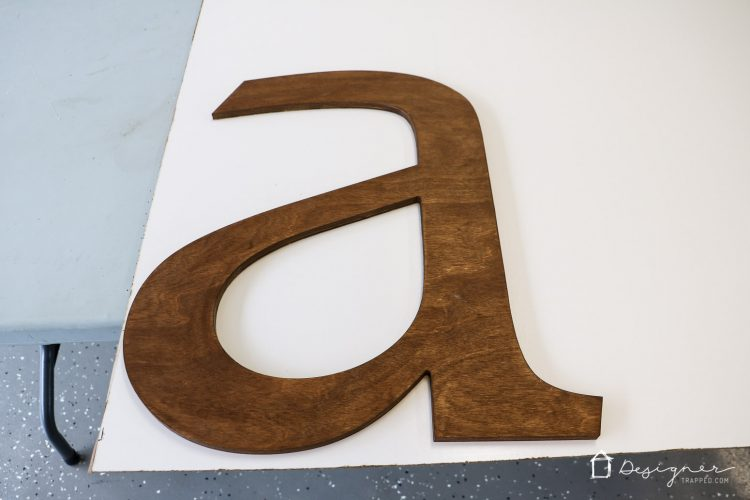 OMG, this has to be one of the best decorative letters I have ever seen! Love the idea of this big decorative letter. It's perfect to make a huge impact on a wall!