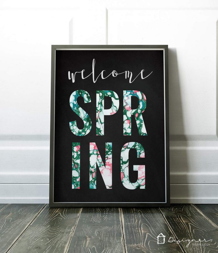 OMG! I am so in love with these free printables for Spring! I can't wait to print off these Spring printables and pop them into frames. So gorgeous!