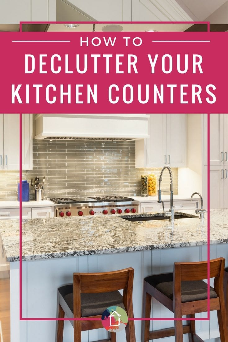 YES! These tips for decluttering your kitchen counters and for keeping them clean with countertop storage suggestions. Off to declutter my kitchen!